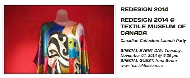 reDesign 2014 - Textile Museum of Canada